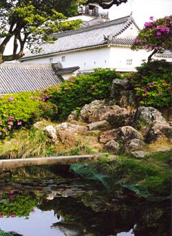池と高知城