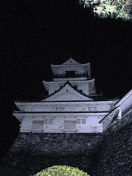 大晦日、深夜の孤高の高知城