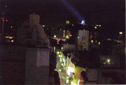 花火と高知城